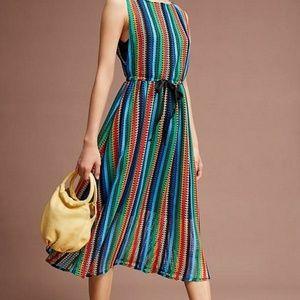 Gorgeous rainbow Anthropologie dress NWT